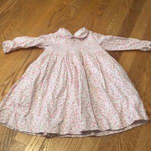 Flower print flannel 100%cotton dress